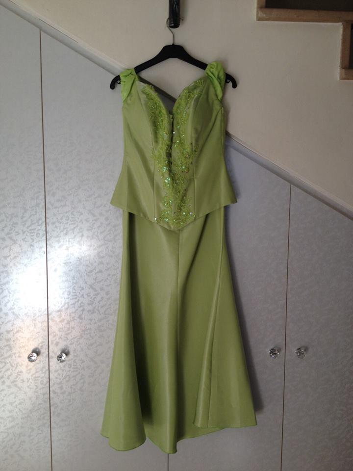 שמלת מחוך טורקיז נלבשה פעם אחת