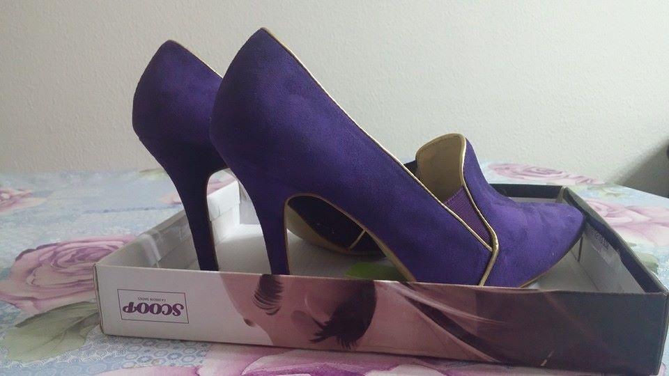 תמונות נוספות של נעלי ערב סגולות