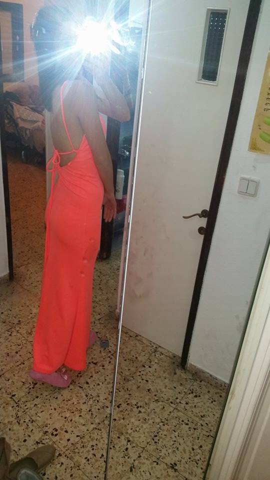 שמלת ערב כתומה מהממת