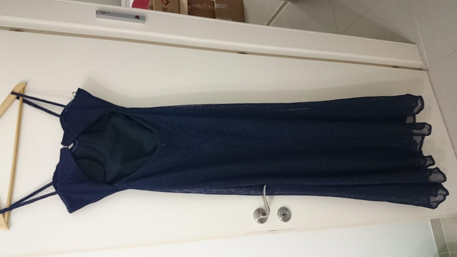 תמונות נוספות של שמלת ערב מהממת בצבע כחול נייבי