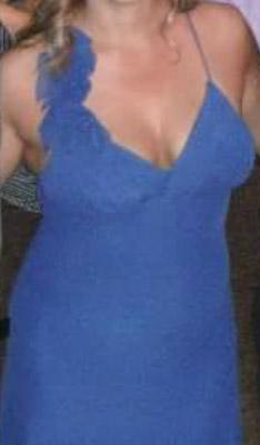שמלת ערב כחולה ארוכה