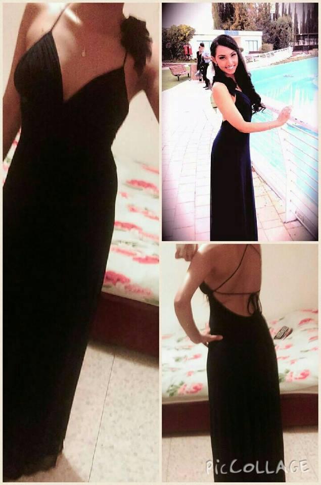שמלת ערב מקסי כחולה כהה