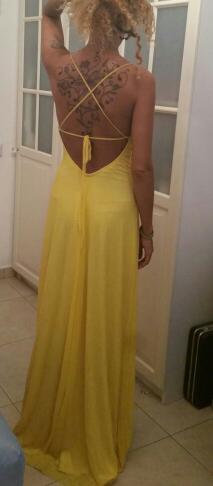 תמונות נוספות של שמלת ערב צהובה