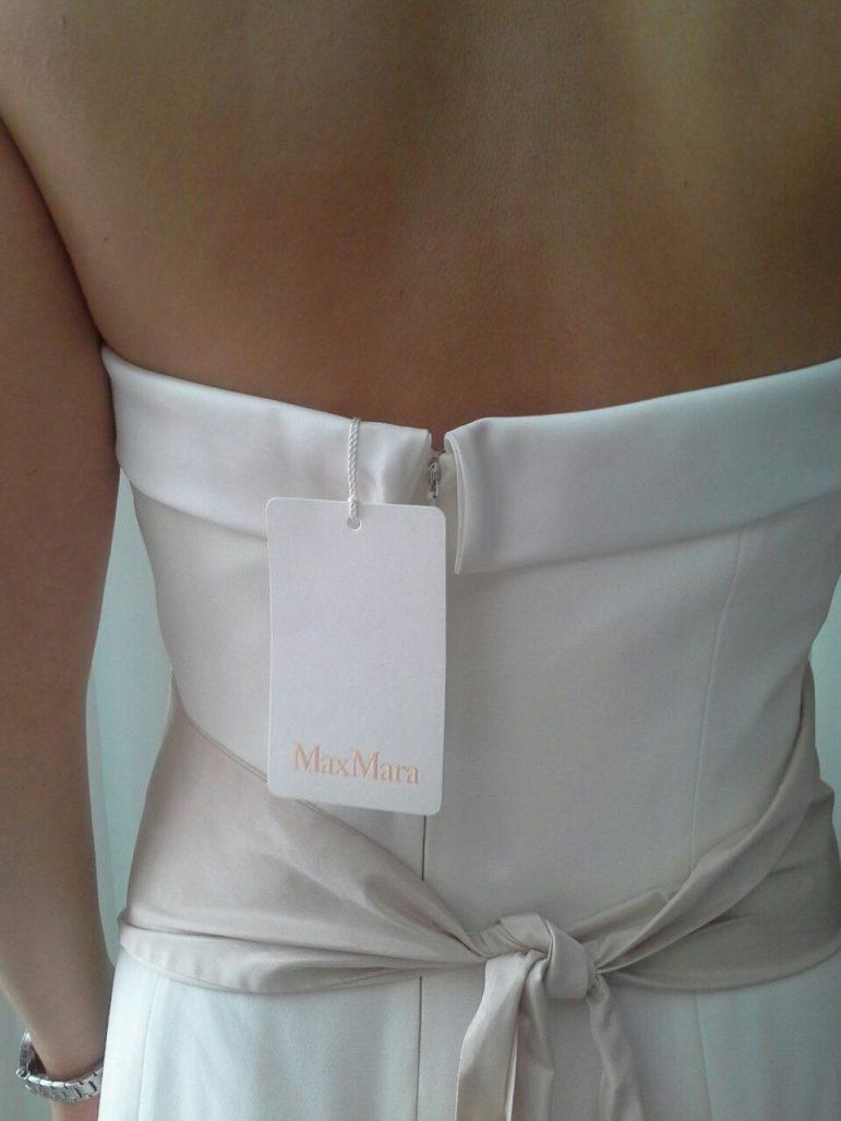 """תמונות נוספות של שמלת ערב לבנה / שמלת כלה """"מקס מרה"""" מאיטליה"""