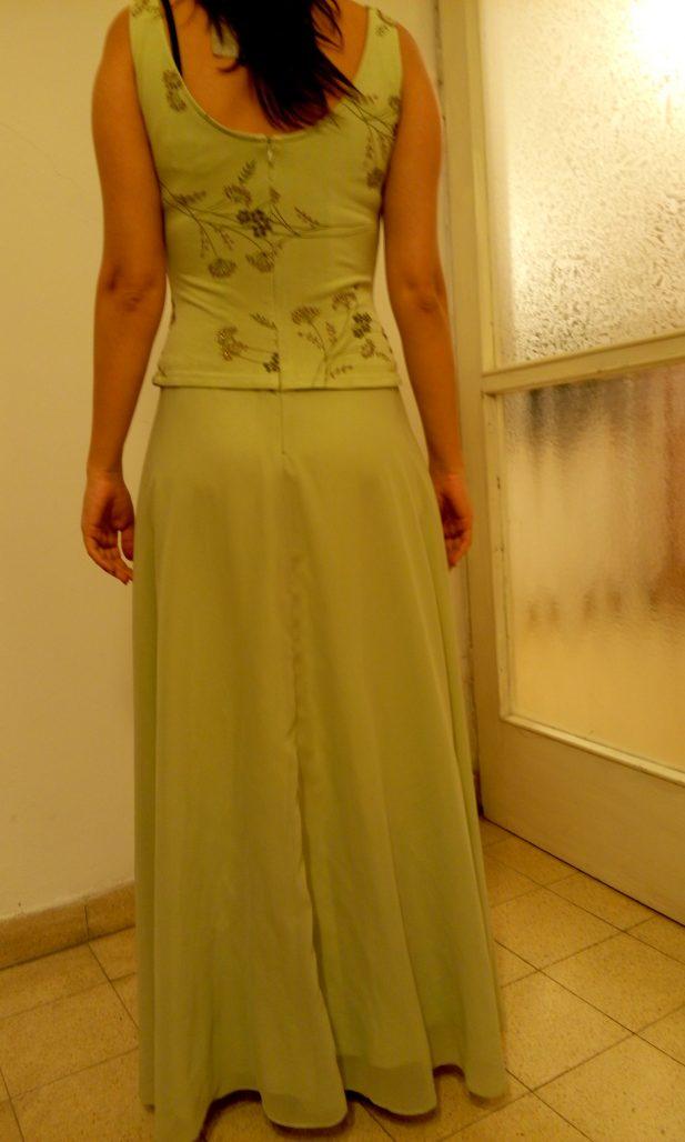 תמונות נוספות של שמלת ערב ירוק בהיר