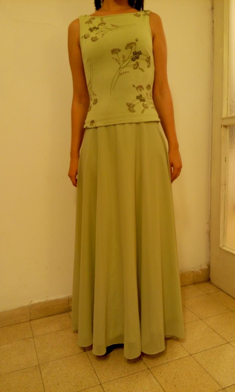 שמלת ערב ירוק בהיר