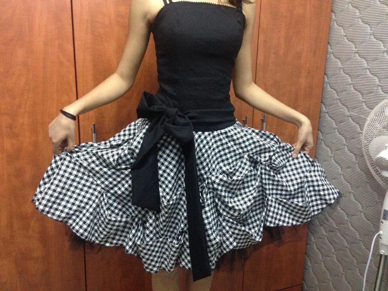 שמלה מהממת שחור לבן