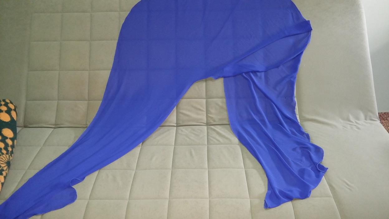 תמונות נוספות של שמלת ערב מקסי כחולה