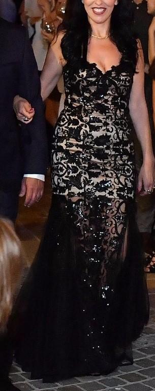 שמלת ערב מבד תחרה איכותי ביותר