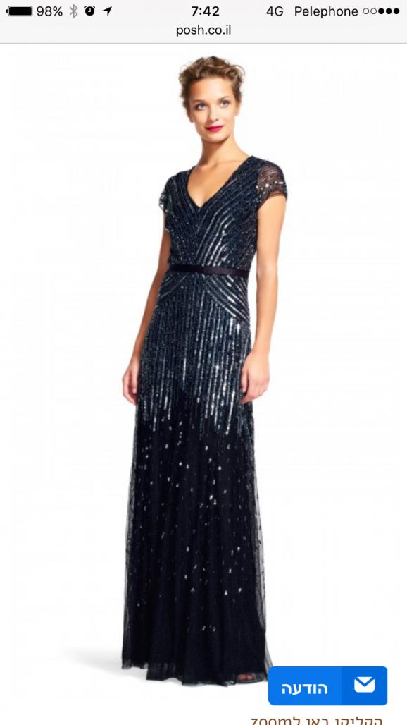 תמונות נוספות של שמלת ערב פייטים מקסי