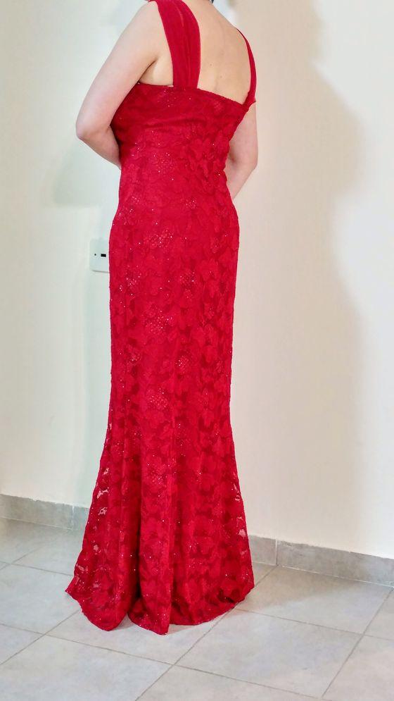 תמונות נוספות של שמלת ערב אדומה
