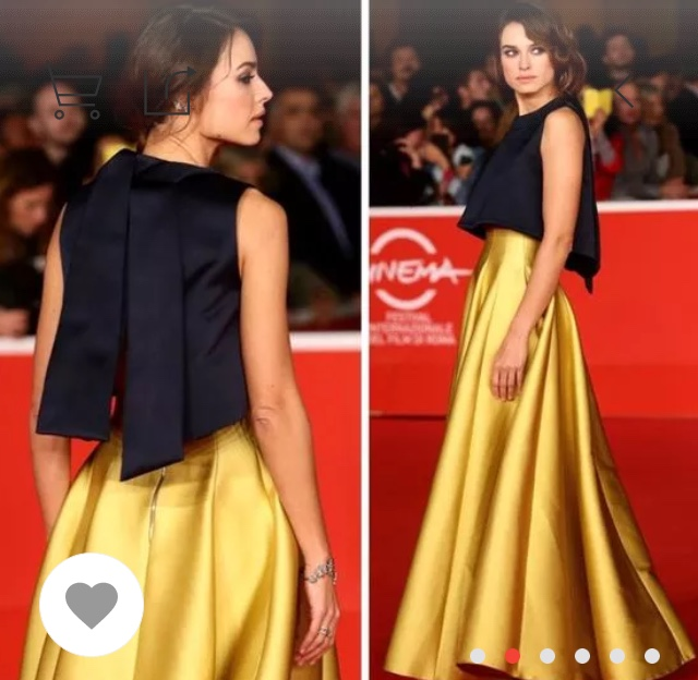 חצאית זהב מעלפת