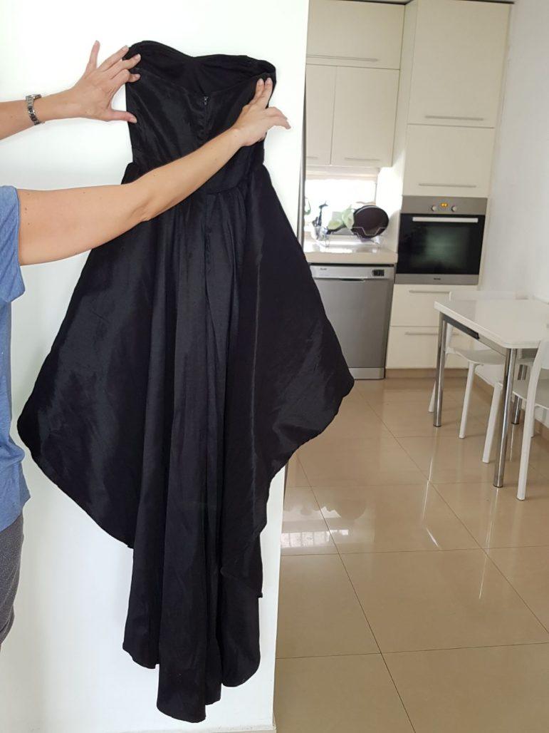 תמונות נוספות של שמלת נשף שחורה מידה SMALL
