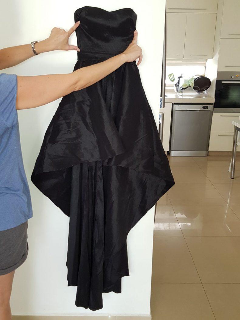 שמלת נשף שחורה מידה SMALL