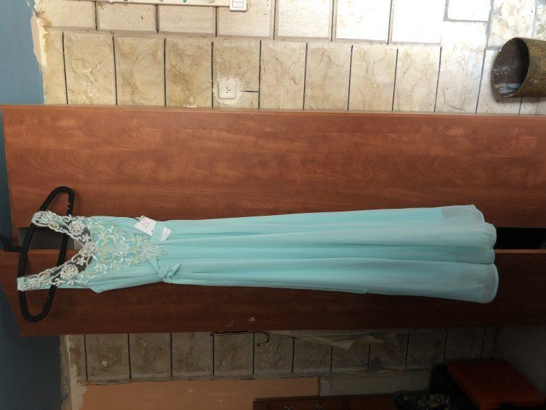 שמלת ערב מנטה מהממת