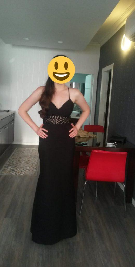 תמונות נוספות של שמלת ערב ארוכה עם גב חשוף