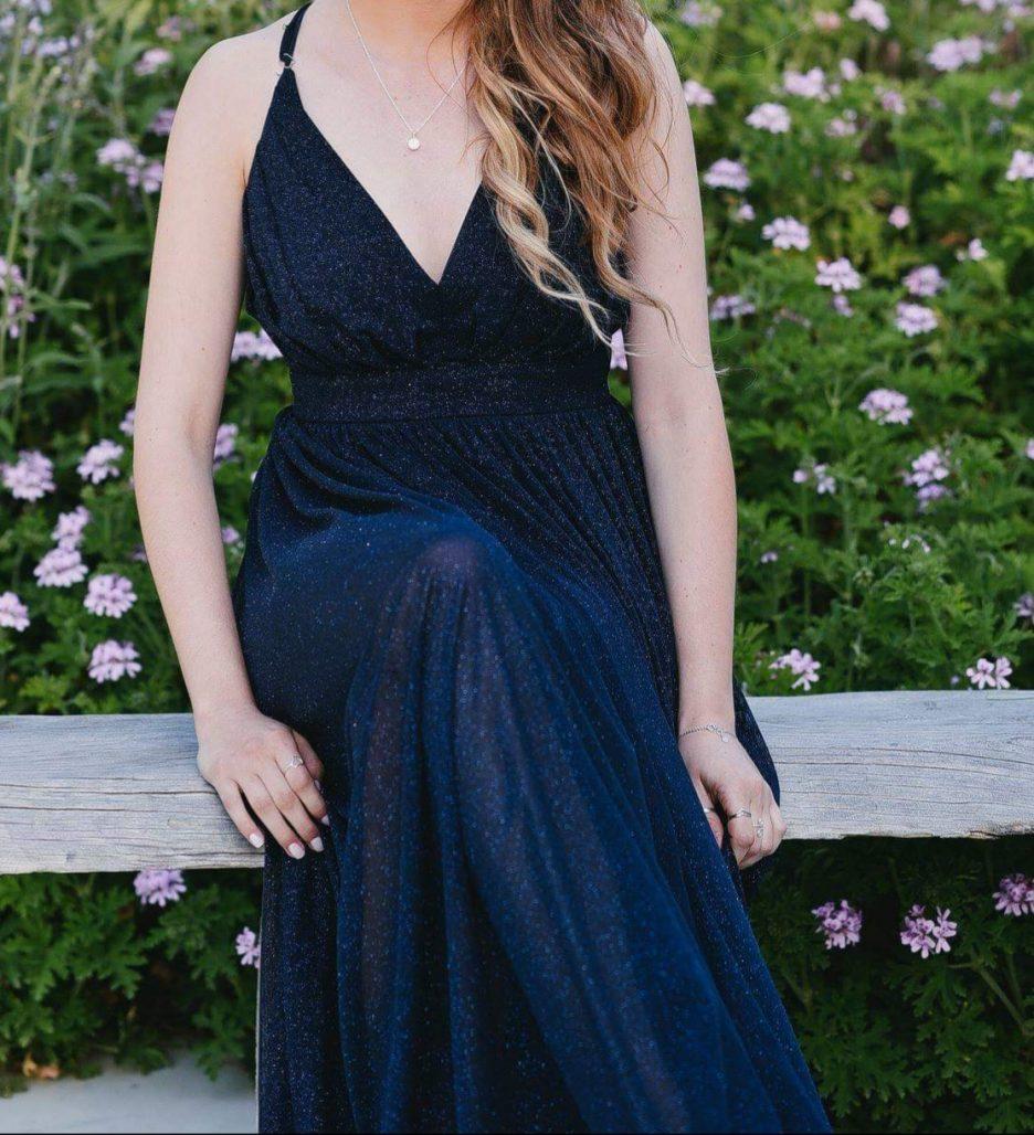 תמונות נוספות של שמלת ערב ארוכה עם נצנצים