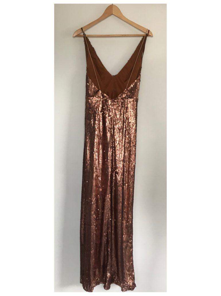 תמונות נוספות של שמלת ערב פייטים ברונזה