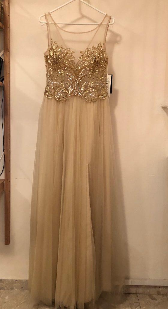 תמונות נוספות של שמלת ערב מוזהבת