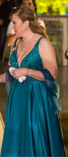 תמונות נוספות של שמלת ערב מפוארת סולידית