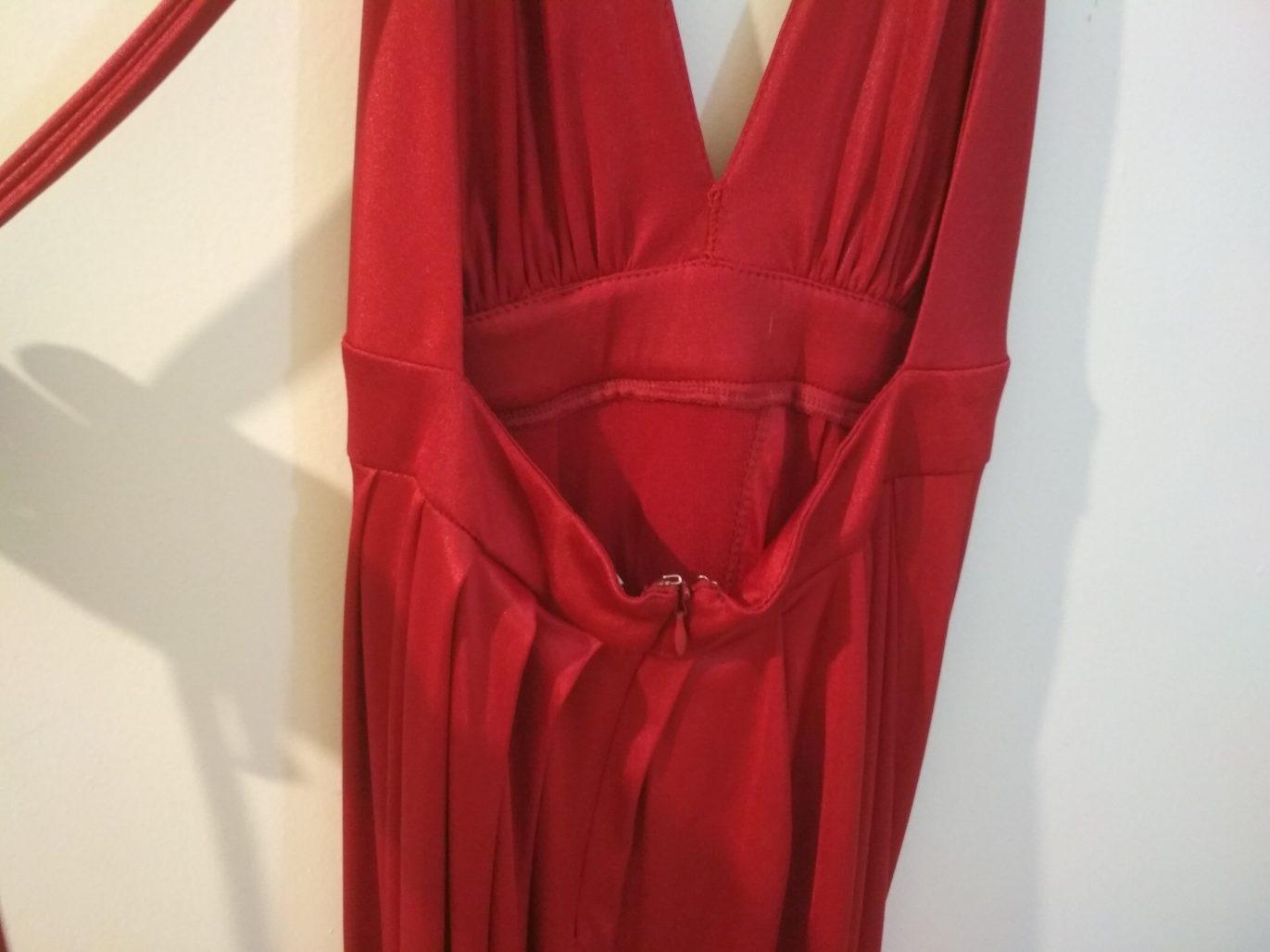 תמונות נוספות של שמלת ערב אדום יין