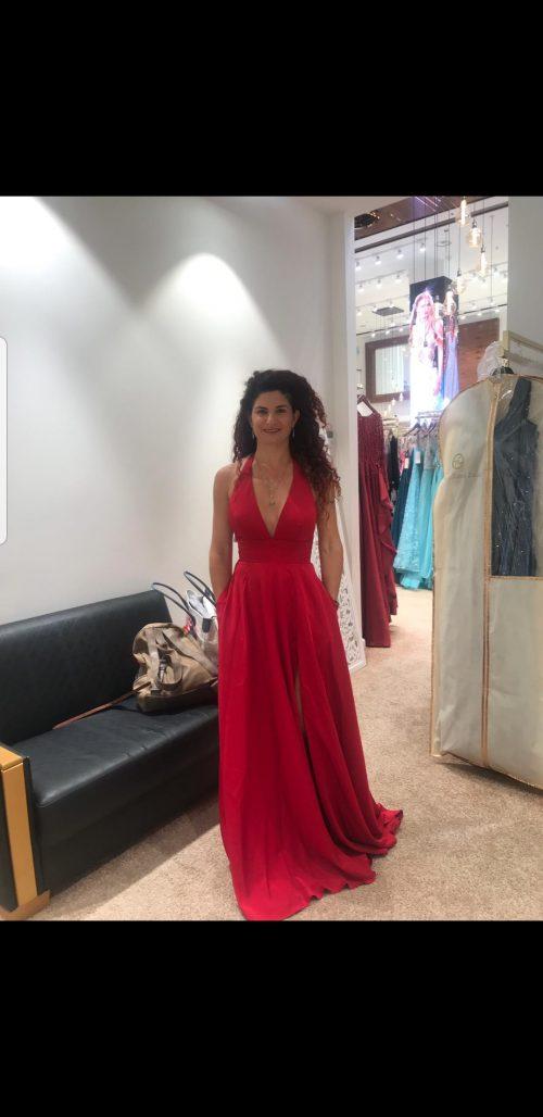 תמונות נוספות של שמלת נשף אדומה