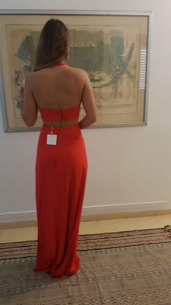 תמונות נוספות של שמלת ערב אדומה חדשה
