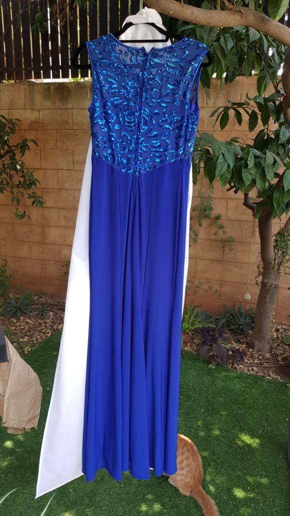 תמונות נוספות של 2 שמלות ערב בבצע כחול רויאל