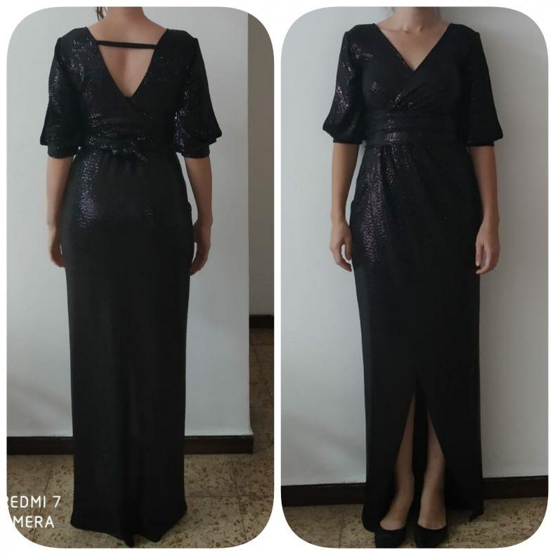 שמלת ערב שחורה מחמיאה מאוד !