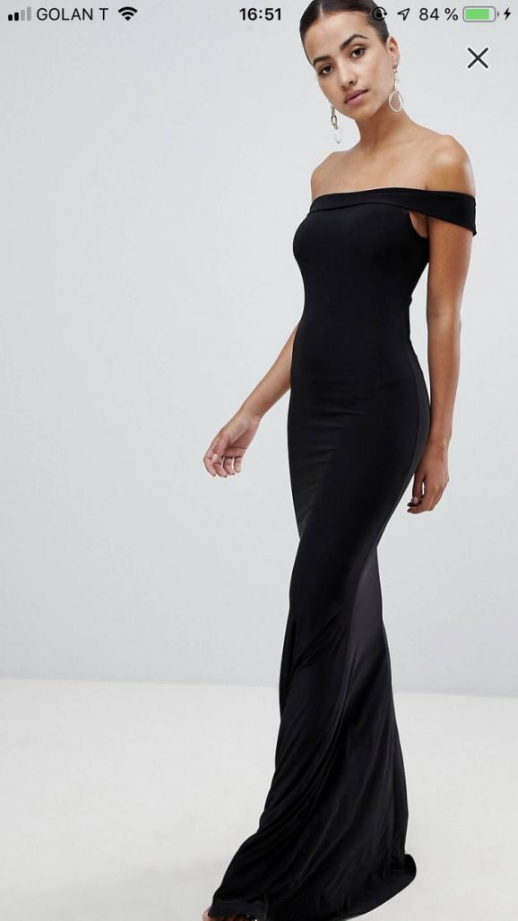 תמונות נוספות של שמלת ערב מקסי שחורה