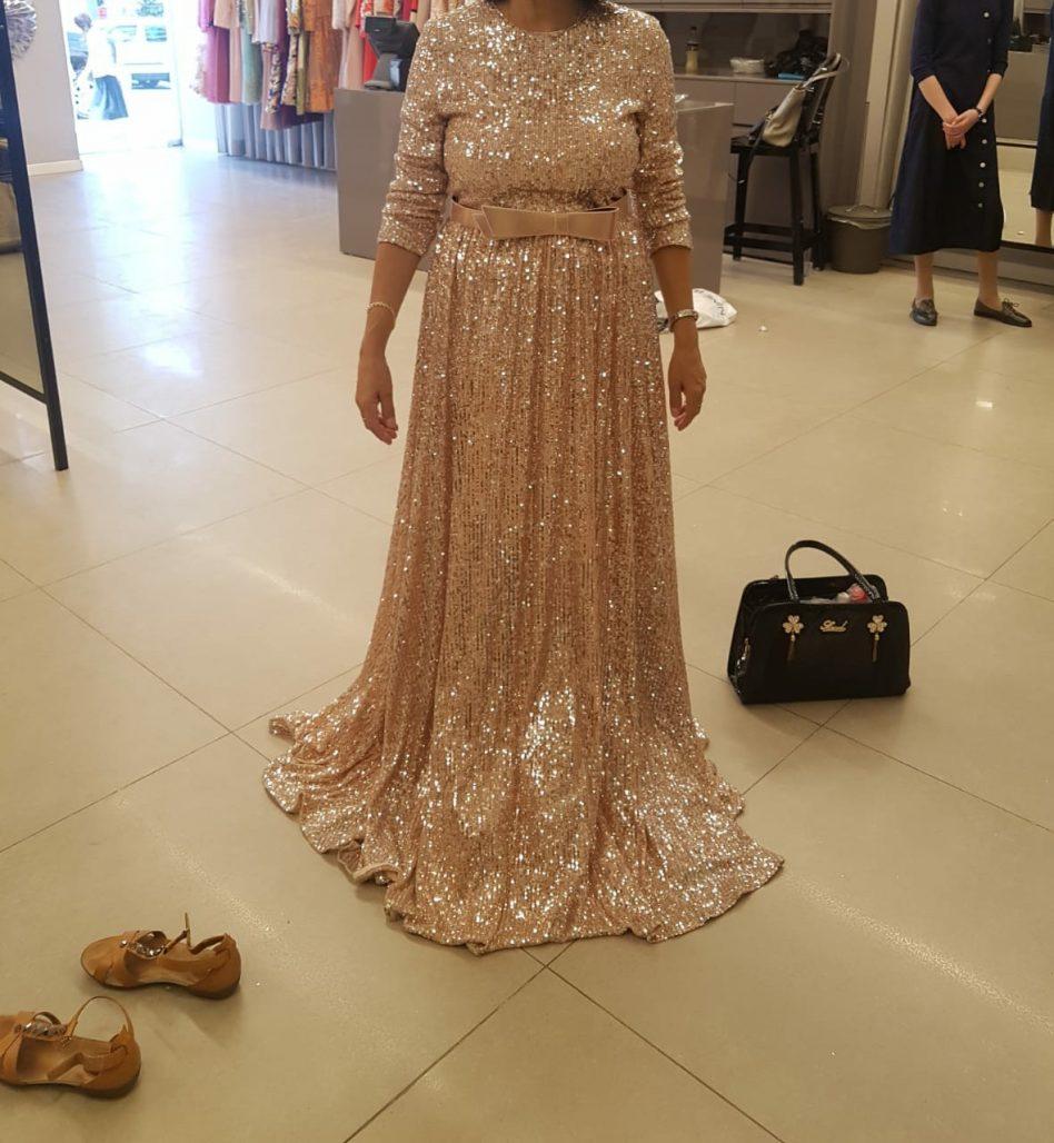 תמונות נוספות של שמלת ערב פאייטים יוקרתית
