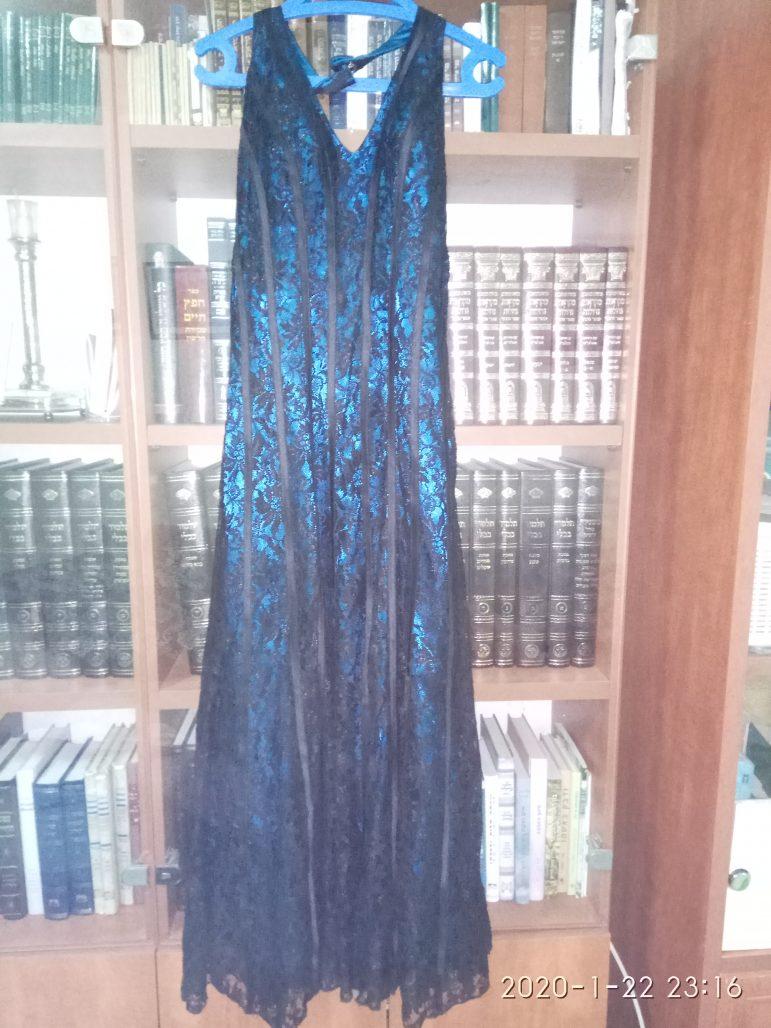 תמונות נוספות של שמלת ערב מקסי ללא שרוול